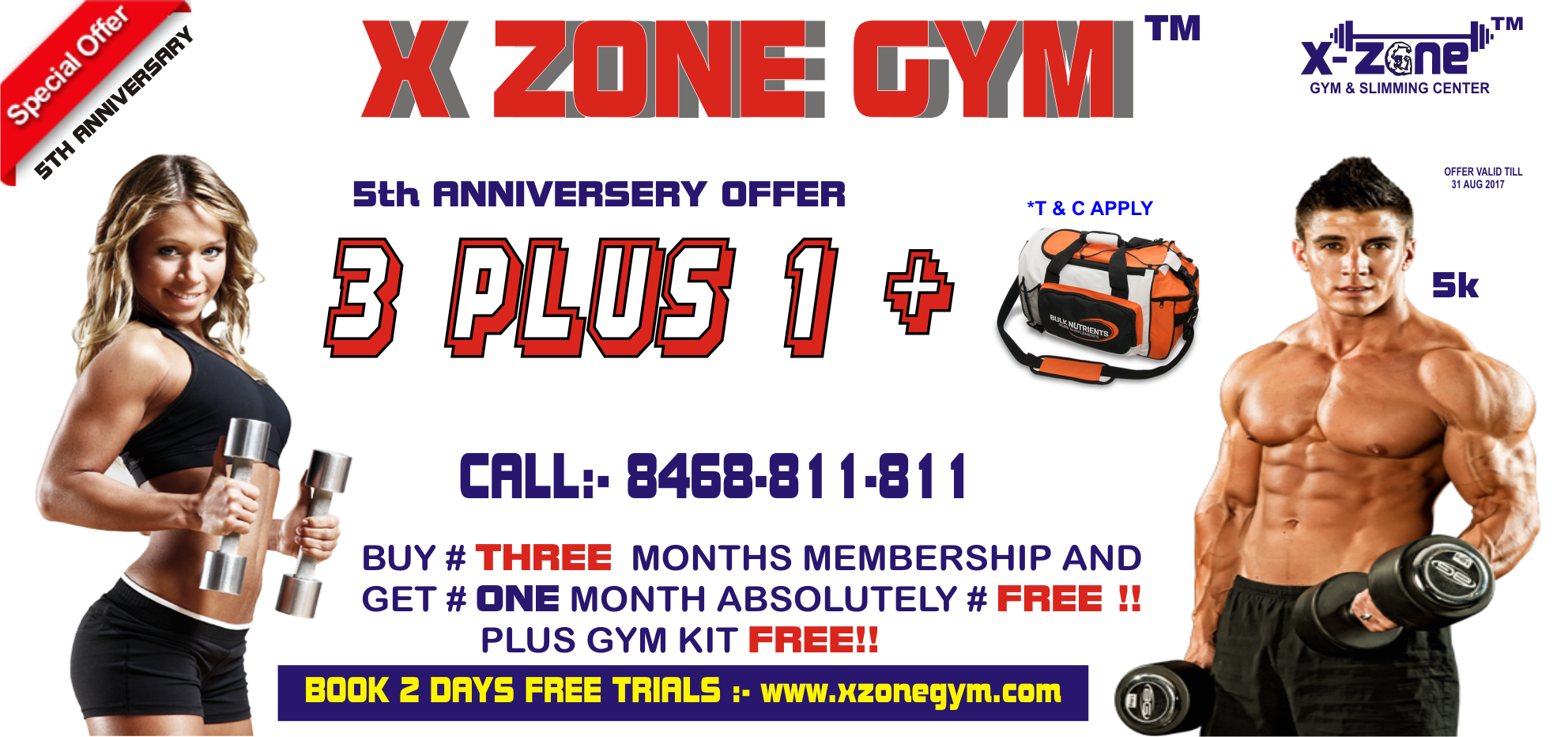 X ZONE GYM 5TH ANNIVERSARY OFFER